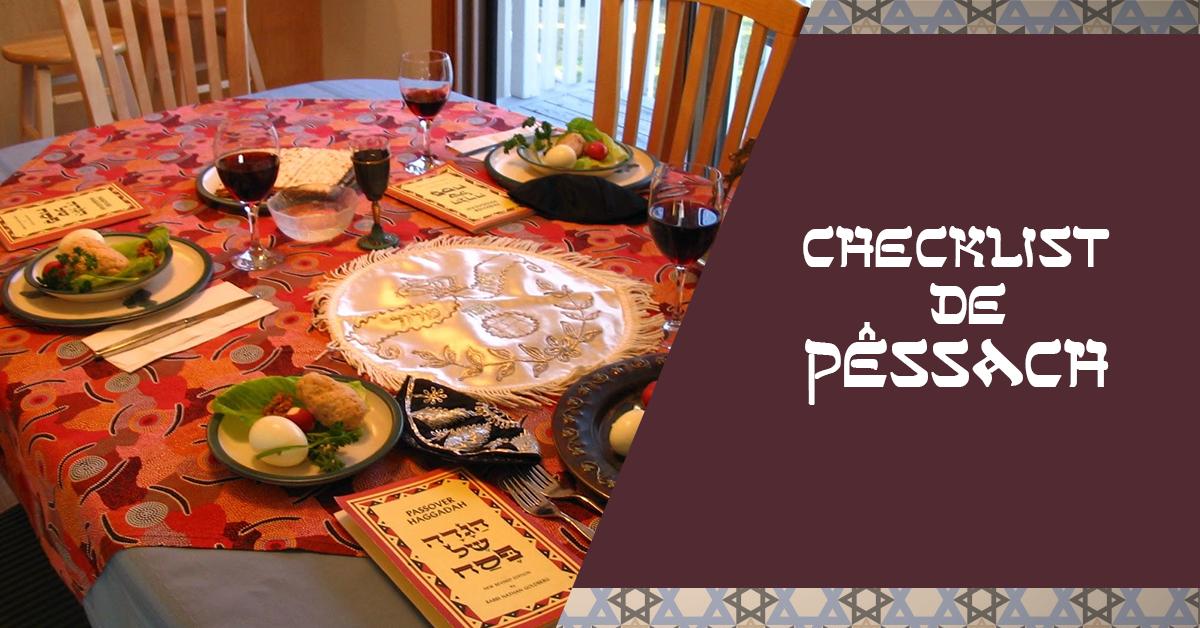 Checklist de Pêssach Páscoa Judaica